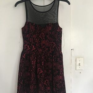 Trixxi Clothing Company Burgundy and Black Dress